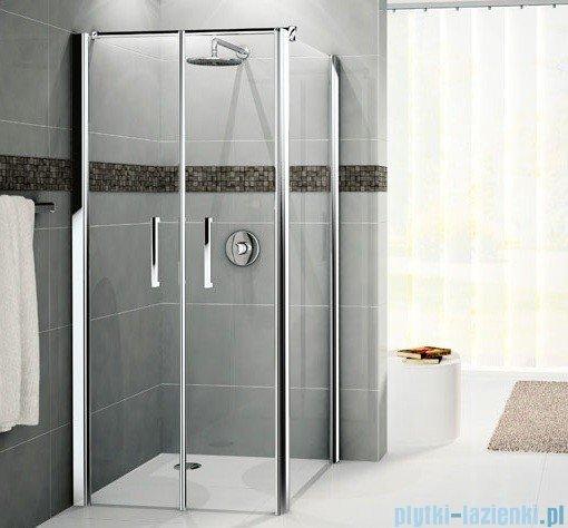 Novellini Drzwi prysznicowe GIADA 2B 84 cm szkło przejrzyste profil srebrny GIADN2B84-1B