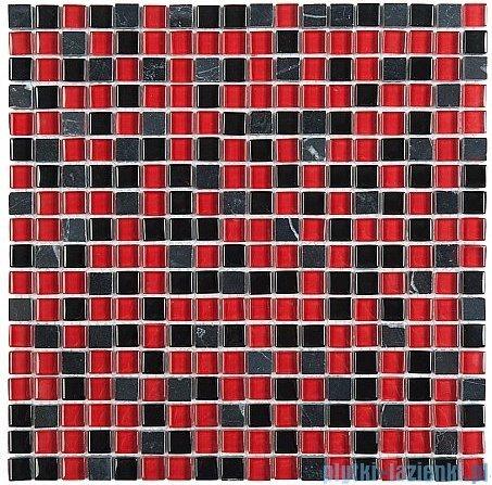 Dunin Aurora mozaika kamień/szkło 30x30 ruby 15