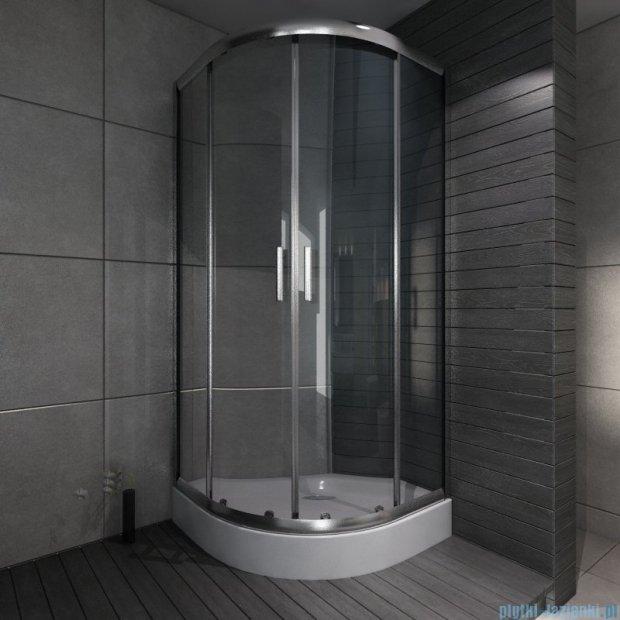 Cersanit Nama kabina półokrągła 90x90x190 cm szkło transparentne S148-002