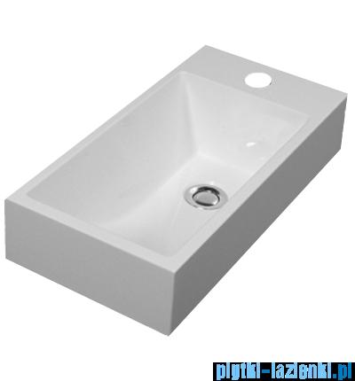 Omnires Corfu Marble+ umywalka wisząca/nablatowa 50x25cm biała