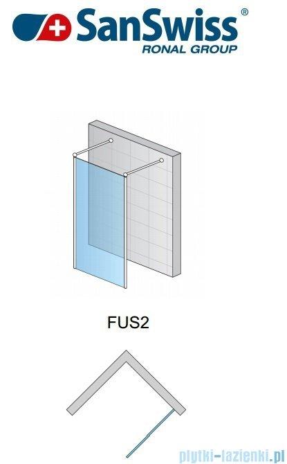 SanSwiss Fun Fus2 Ścianka wolnstojąca 90-160cm profil połysk FUS2SM15007