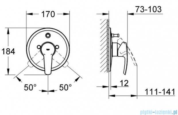 Grohe Eurostyle jednouchwytowa bateria wannowa z przełącznikiem wanna/prysznic 19506001