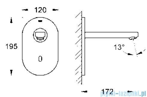 Grohe Euroeco Cosmopolitan E elektronika do umywalki na podczerwień 36273000