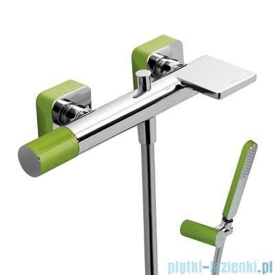 Tres Loft Colors Bateria jednouchwytowa wannowa z kaskadą kolor zielony 200.170.01.VE