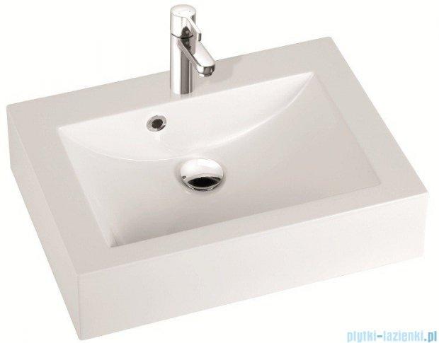 Marmorin umywalka nablatowa Ceto 60cm z otworem biała 170060022011