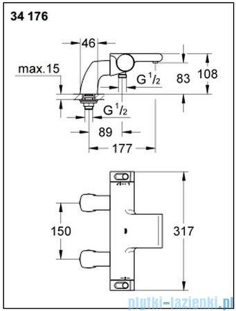 Grohe Grohtherm 2000 NEW bateria wannowa z termostatem DN 15 34176001