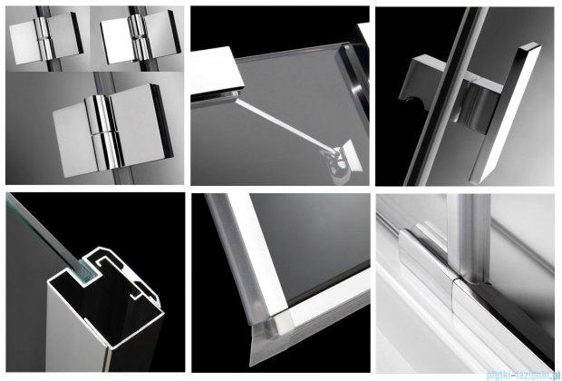 Radaway Kabina prysznicowa Essenza PDD E 90x80 szkło brązowe + brodzik Siros E Compact lewy + syfon 32532-01-08N