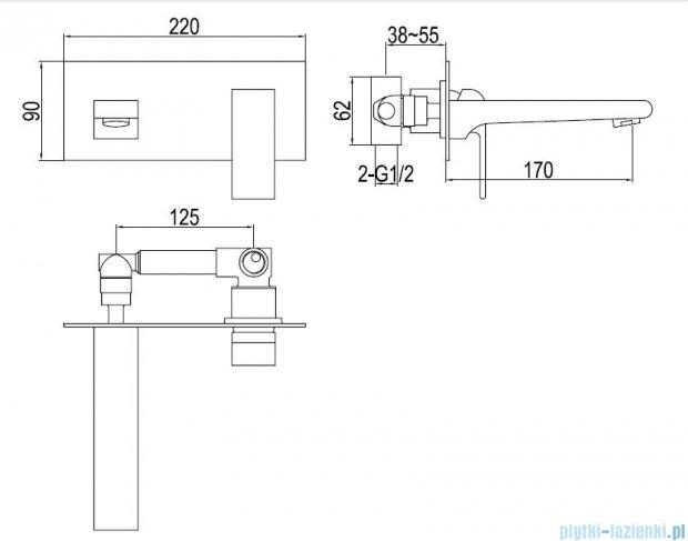 Kohlman Saxo podtynkowa bateria umywalkowa QW185S