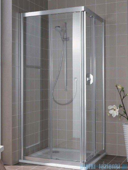 Kermi Atea Wejście narożne prawe, połowa kabiny, szkło przezroczyste KermiClean, profile srebrne 100x200cm ATC2R10020VPK