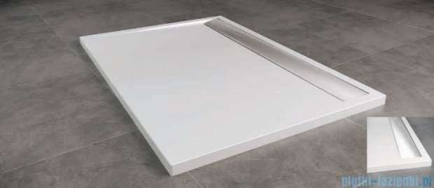 SanSwiss WIA Brodzik konglomeratowy prostokątny 80x120cm biały/połysk WIA801205004