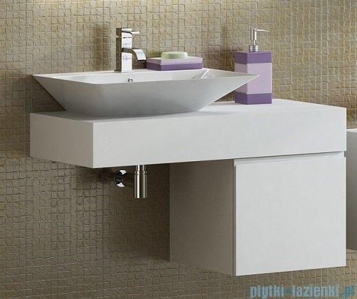 Antado Combi szafka prawa z blatem i umywalką Libra biały ALT-141/45-R-WS+ALT-B/3C-1000x450x150-WS+UCS-TC-66