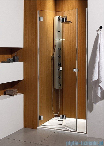 Radaway Carena DWB Drzwi prysznicowe 80 lewe szkło brązowe + brodzik Delos C + Syfon 34512-01-08NL