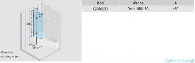 Riho Parawan nawannowy Delta Scandic S500 GC63200