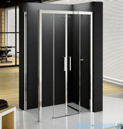 Novellini Elysium Kuadra 2A Podwójne drzwi przesuwne 168cm szkło przejrzyste profil chrom KUAD2A168-1K
