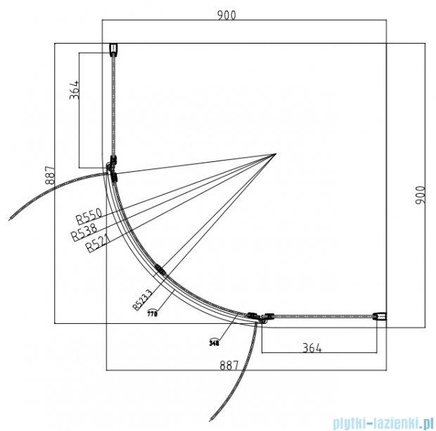 Omnires Manhattan kabina 2-skrzydłowa 3M™ Easy Clean 90x90x195cm szkło przejrzyste ADF94XLUX-T