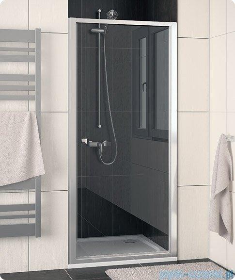 SanSwiss Eco-Line Drzwi 1-częściowe Ecop 80cm profil srebrny szkło przejrzyste ECOP08000107
