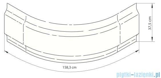 Deante Deep obudowa do brodzika 80 cm biała KTD 042O