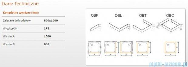 Sanplast Obudowa do brodzika OBL 80x100x17,5 cm 625-403-1330-01-000