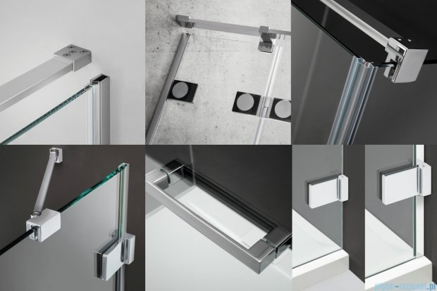 Radaway Euphoria KDJ Drzwi prysznicowe 90 lewe szkło przejrzyste 383044-01L