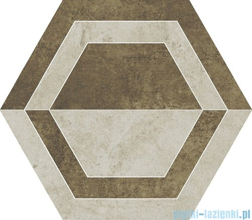Paradyż Scratch beige B heksagon 26x29,8