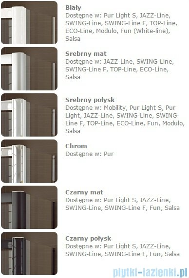 Sanswiss Melia MET3 Ścianka lewa z uchwytami i profilem 30-90/do 200cm cieniowane czarne MET3AGSM11055