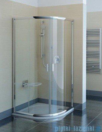 Ravak Kabina prysznicowa Blix BLCP4 półokrągła 80x80 aluminium transparent Anticalc 3B240C00Z1