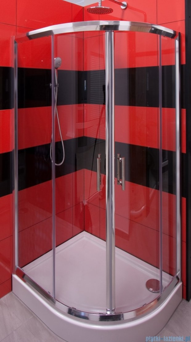 Omnires Health kabina 2-skrzydłowa prawa JK28 80x100x185cm przejrzyste JK2808/10P