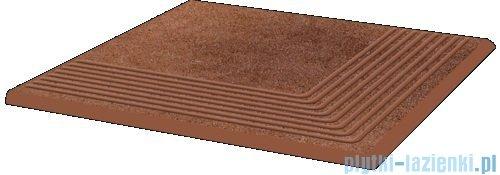 Paradyż Taurus brown klinkier stopnica narożna 30x30