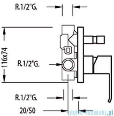 Tres Cuadro-Tres Bateria podtynkowa wannowo-natryskowa 1.06.180