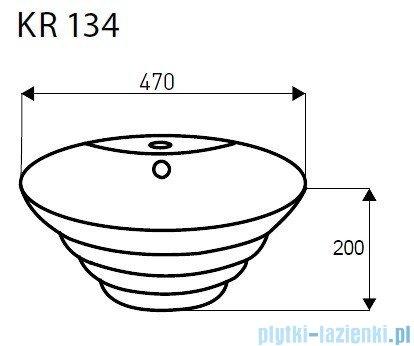 Novoterm Kerra Umywalka owalna nablatowa KR 134 48,5x47,5 cm