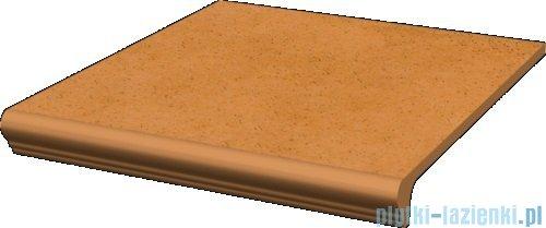 Paradyż Aquarius beige klinkier stopnica z kapinosem prosta 30x33
