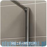 SanSwiss Melia MET1 ścianka prawa wymiary specjalne 90-140/do 200cm pas satynowy MET1PDSM21051