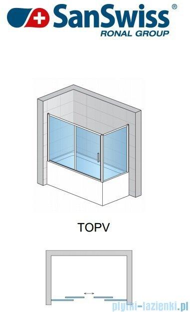SanSwiss Top-Line TOPV Ścianka boczna 75cm profil srebrny TOPV07500107