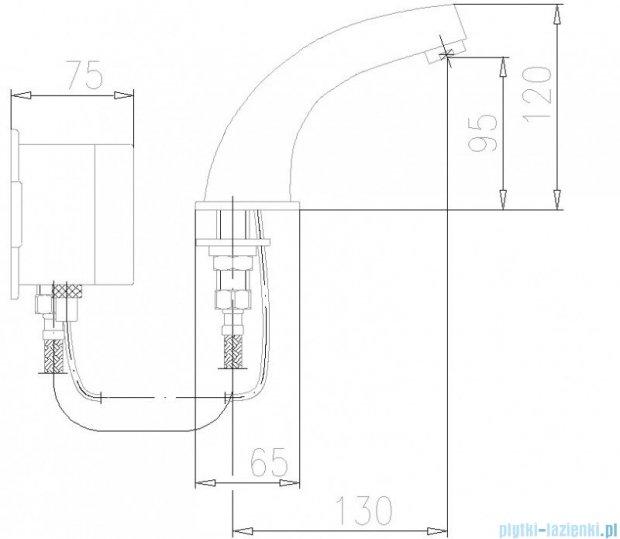 KFA Bateria specjalna bezdotykowa umywalkowa zasilanie bateryjne zewnętrzne chrom 592-100-00