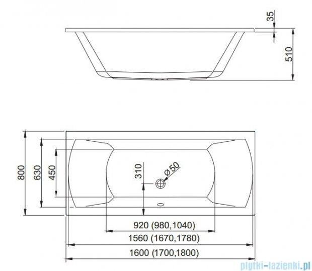 Aquaform Linea wanna prostokątna 160x80cm 05234
