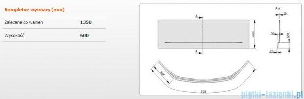 Sanplast Obudowa do wanny Free Line symetryczna, OWS/FREE 135x135 cm 620-040-0520-01-000