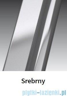 Novellini Drzwi do wnęki z elementem stałym GIADA G+F 102 cm prawe szkło przejrzyste profil srebrny GIADNGF102D-1B