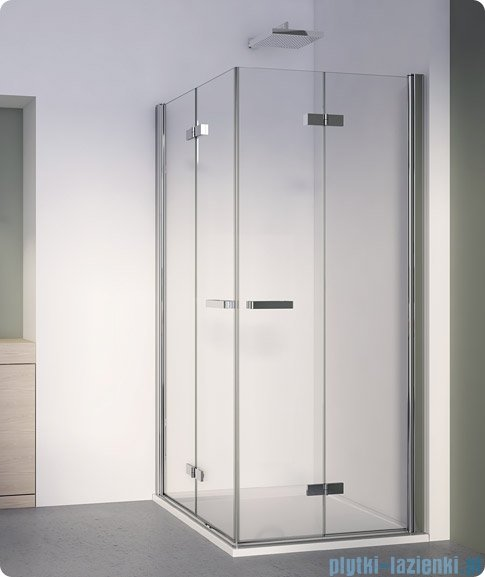 SanSwiss Swing Line F Wejście narożne z drzwiami SLF2 75cm profil połysk Prawe SLF2D07505007