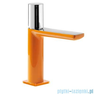 Tres Loft Colors Bateria umywalkowa z korkiem automatycznym kolor pomarańczowy 200.103.02.NA.D