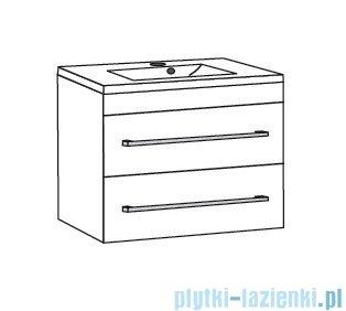 Antado Variete ceramic szafka podumywalkowa 2 szuflady 62x43x50 szary połysk FM-AT-442/65/2GT-K917