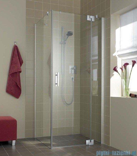 Kermi Filia Xp Drzwi wahadłowe z polem stałym, prawe, szkło przezroczyste, profile srebrne 100x200cm FX1WR10020VAK