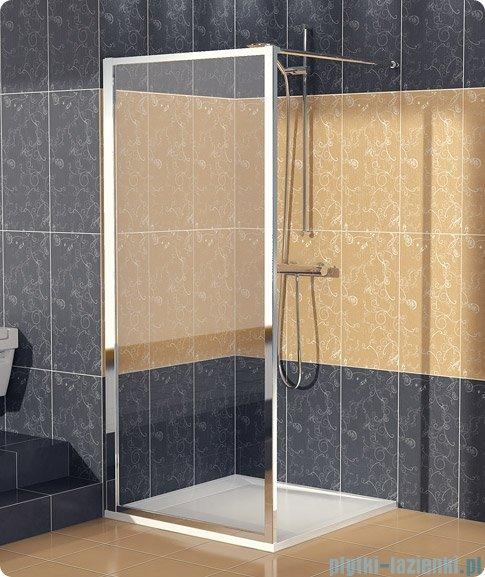 SanSwiss Eco-Line Ścianka boczna Ecof 90cm profil srebrny szkło przejrzyste ECOF09000107