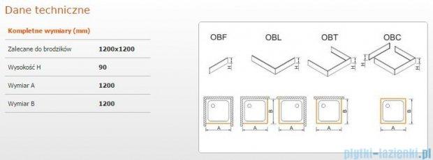 Sanplast Obudowa brodzika OBL 120x120x9 cm 625-400-1060-01-000