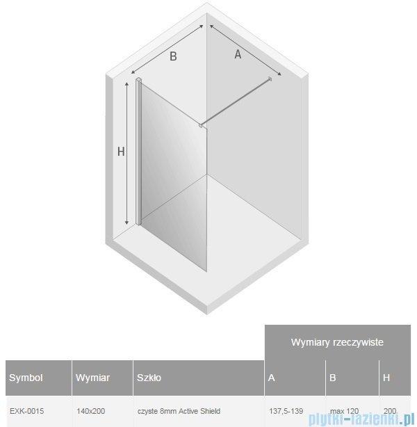 New Trendy New Modus kabina Walk-In 140x200 cm przejrzyste EXK-0015