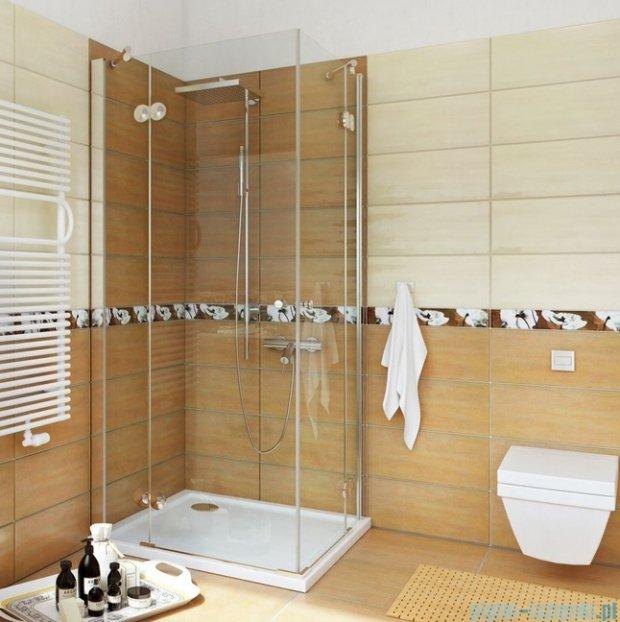 Sea Horse Fresh Line kabina natryskowa narożna kwadratowa 90x90cm ze ściankami bocznymi BK246T