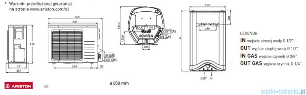 Ariston wisząca pompa ciepła do podgrzewania wody 80 Nuos EVO Split ZNNUOSEVO080