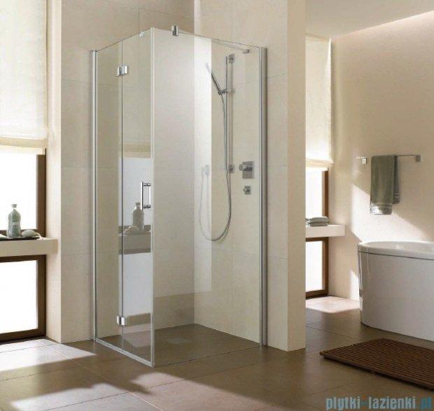 Kermi Diga Ściana boczna, szkło przezroczyste, profile biel 75x200cm DITWD075202AK