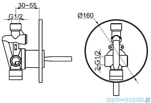Kohlman Maxima zestaw prysznicowy chrom QW220MR40