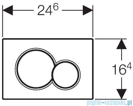 Geberit Sigma01 przycisk spłukujący chrom matowy 115.770.46.5