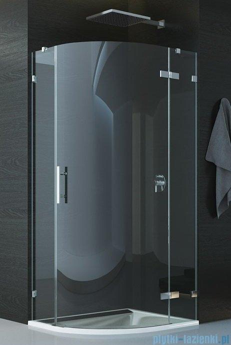 SanSwiss Pur P3 Kabina półokrągła 75-120cm profil chrom szkło przezroczyste Prawe P3D50SM11007